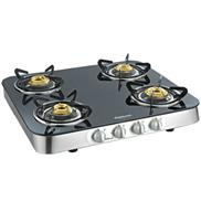 buy Sunflame Crystal Curve 4B SS Cooktop