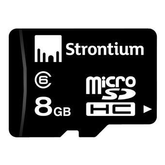 buy STRONTIUM 8GB MICRO SD CARD CLASS 6 :Strontium