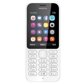 buy NOKIA MOBILE 222 DUAL SIM WHITE :Nokia