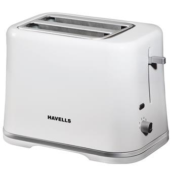 buy HAVELLS POP TOASTER CRESCENT WHITE 870W :Havells