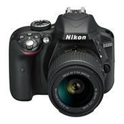 buy Nikon D3300 DSLR Camera (18-55+70-300MM, Black)